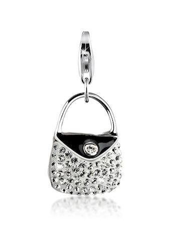Nenalina Charm-Einhänger »Handtasche Emaille Kristalle 925 Silber« kaufen