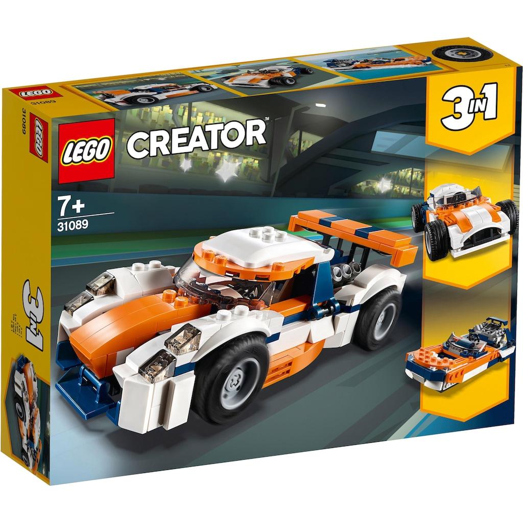 LEGO® Konstruktionsspielsteine »Rennwagen (31089), LEGO® Creator«, (221 St.), Made in Europe