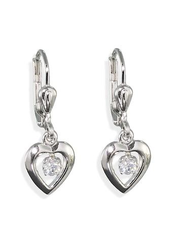 Amor Paar Ohrhänger »9060030, Herz«, mit Zirkonia kaufen