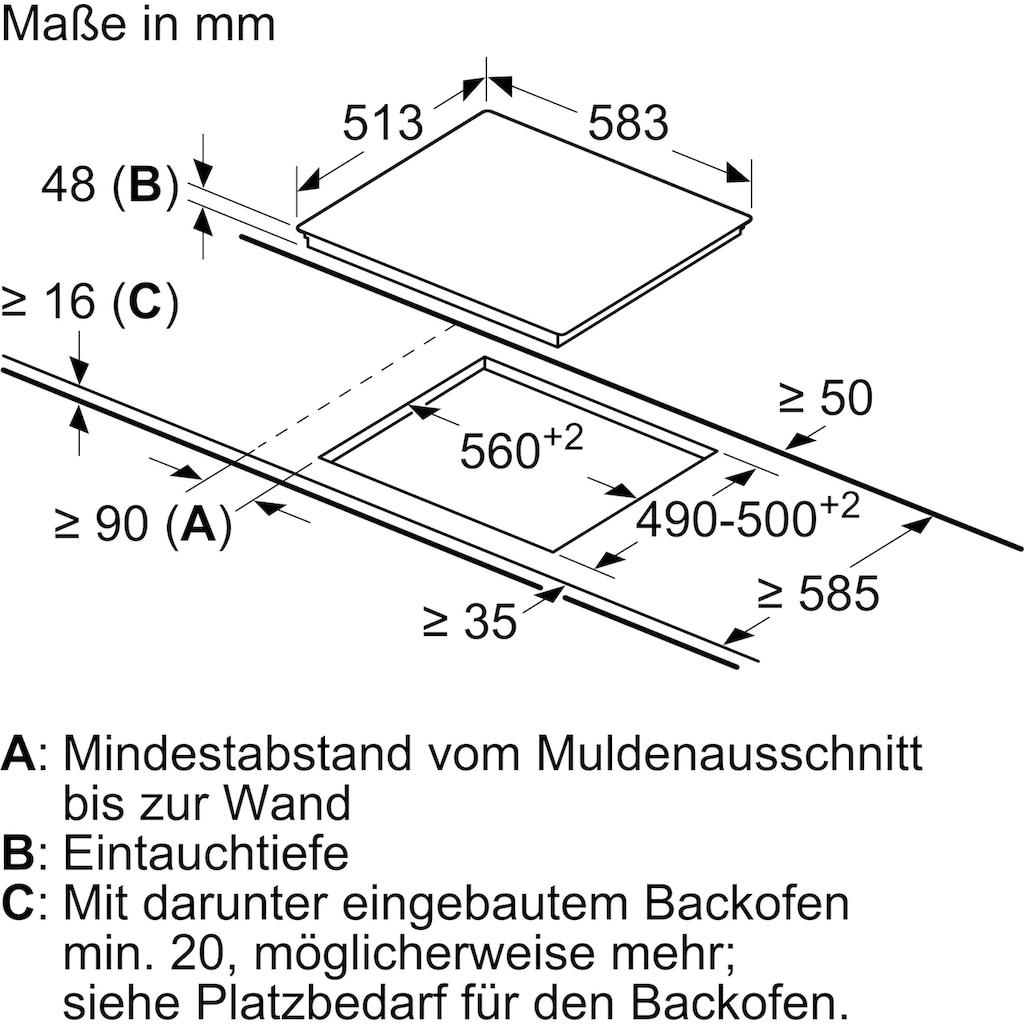 BOSCH Backofen-Set »HBD231VR60«, HBF133BR0, mit Teleskopauszug nachrüstbar, ecoClean Direct