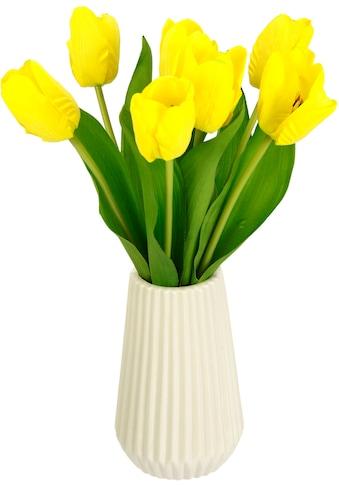 I.GE.A. Kunstblume »Real-Touch-Tulpen«, Vase aus Keramik kaufen