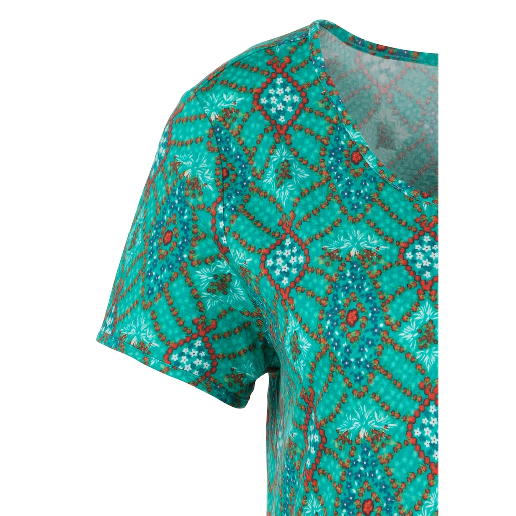 s.Oliver Sleepshirt, im Ornamentdruck
