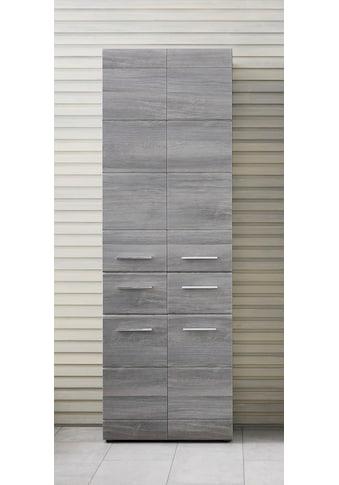 trendteam Hochschrank »Skin«, Höhe 182 cm, Badezimmerschrank mit Fronten in Hochglanz- oder Holzoptik, mit zwei Schubkästen kaufen