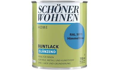SCHÖNER WOHNEN-Kollektion Lack »Home Buntlack«, glänzend, 750 ml, himmelblau RAL 5015 kaufen
