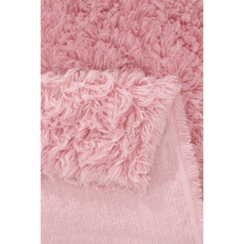 Böing Carpet Bettumrandung »Flokati 1500 g«, Bettvorleger, Läufer-Set für das Schlafzimmer, reine Wolle, handgewebt