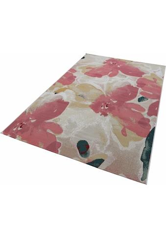 TOM TAILOR Teppich »Garden Blossom«, rechteckig, 3 mm Höhe, Flachgewebe, modernes... kaufen