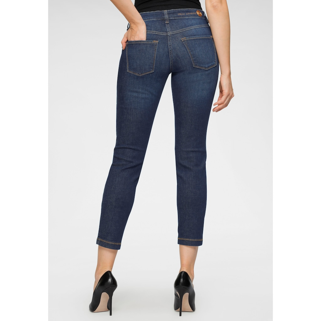 MAC Slim-fit-Jeans »Dream Slim«, Fromgebender Sattel vorne und im Rücken