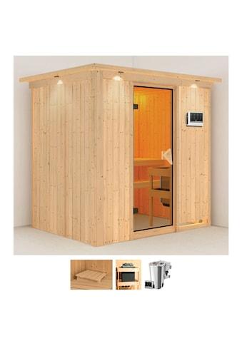 Karibu Sauna »Finja«, 3,6-kW-Bio-Plug & Play Ofen mit externer Steuerung kaufen