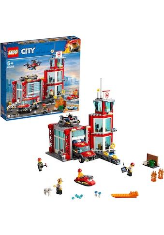 LEGO® Konstruktionsspielsteine »Feuerwehr-Station (60215), LEGO® City«, (509 St.) kaufen