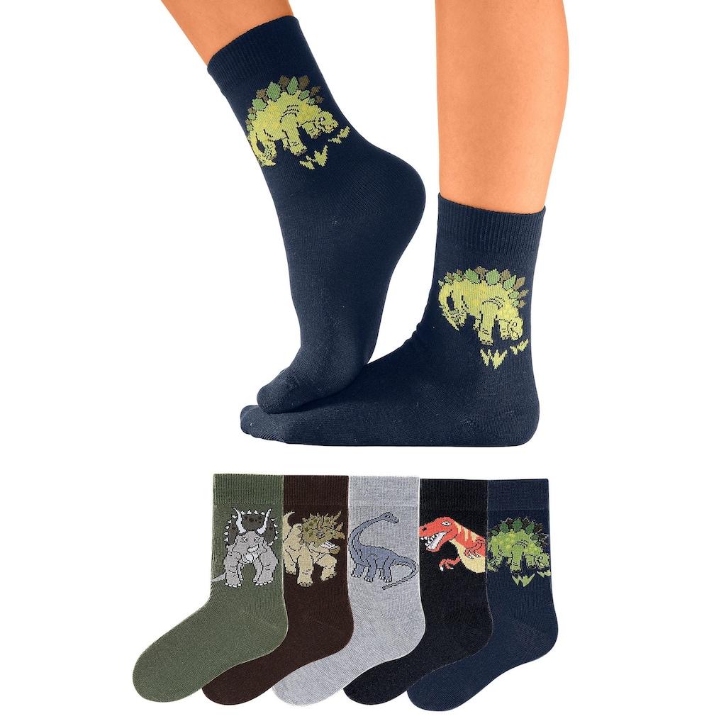 Go in Socken, (5 Paar), mit Dinosauriermotiven