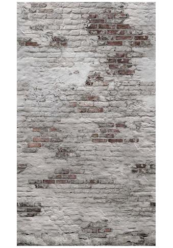 Bodenmeister Fototapete »3d Effekt Steinwand Vintage grau« kaufen
