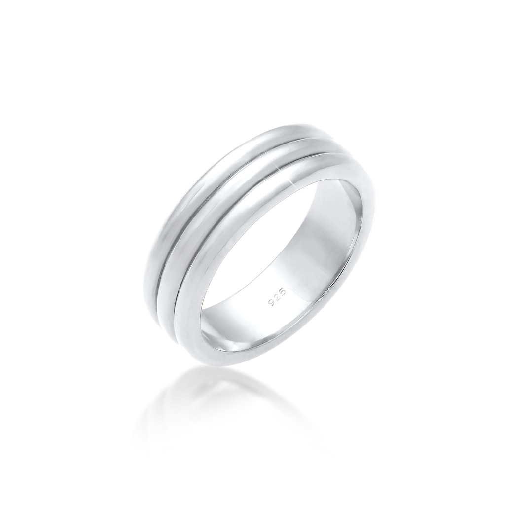 Elli Partnerring »Paarring Drei Ringe Trauring Hochzeit 925 Silber«