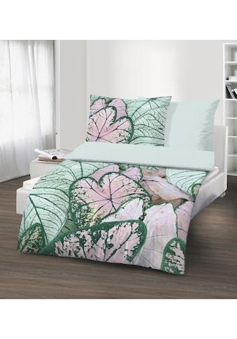 Wendebettwäsche »Baumwoll-Renforcé«, mit tollem Digitaldruck in Seerosenoptik kaufen