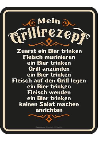 Rahmenlos Blechschild für den BBQ Grill-Fan kaufen