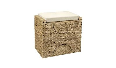 Hocker Wasserhyazinthe mit integriertem Wäschesammler kaufen