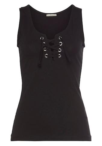 LTB Shirttop »FOPIYO«, mit Schnürung am Ausschnitt kaufen