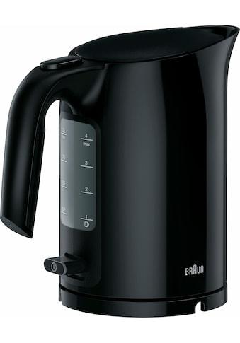 Braun Wasserkocher, WK 3000 BK, 1 Liter, 2200 Watt kaufen