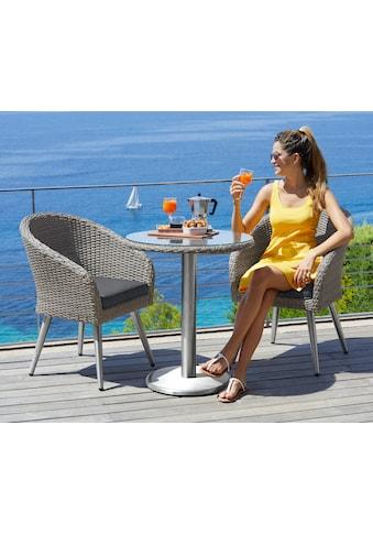 MERXX Gartenmöbelset »Paris Boulevard«, 5 - tlg., 2 Sessel, Tisch Ø 65 cm, Polyrattan kaufen