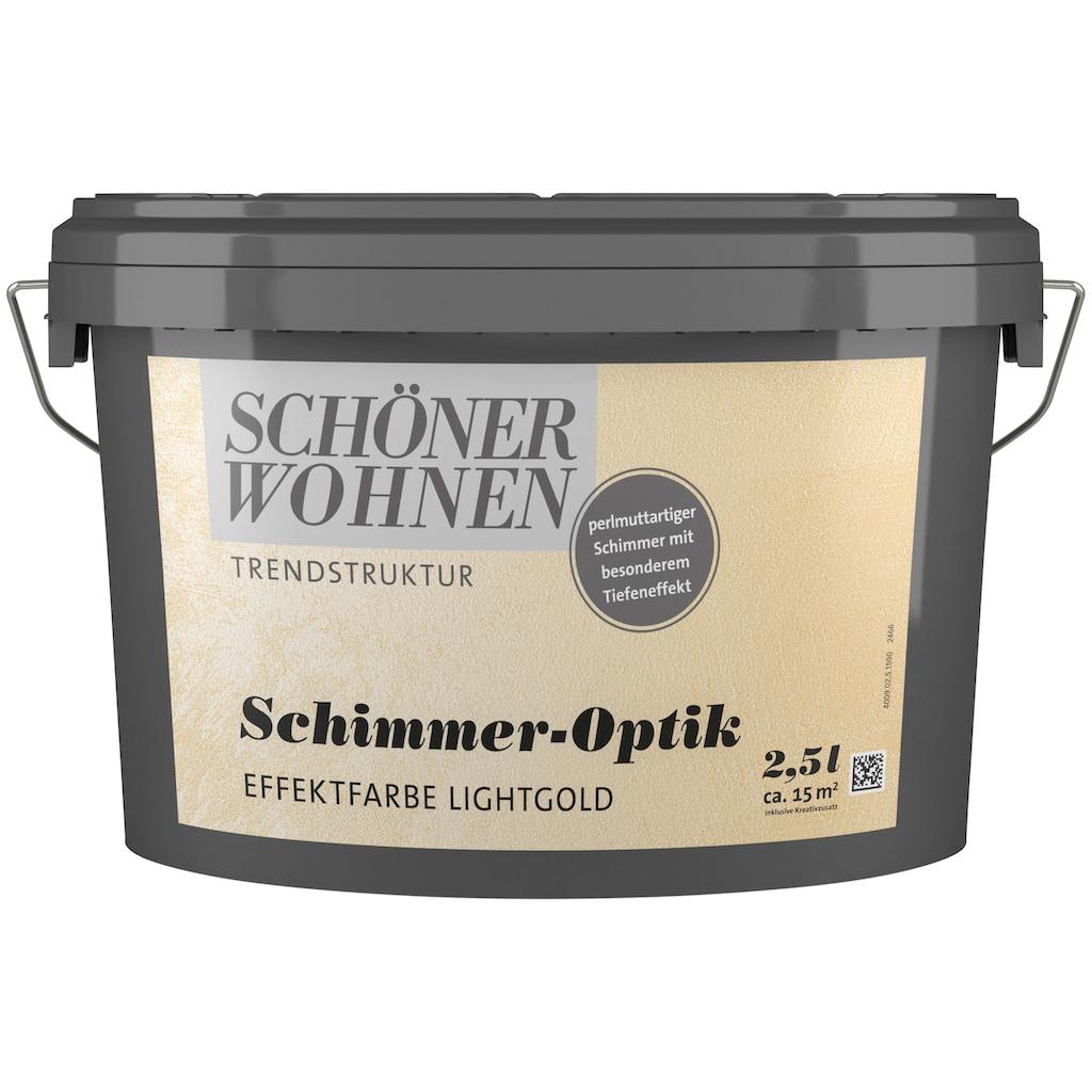 SCHÖNER WOHNEN-Kollektion Wandfarbe »Schimmer-Optik Effektfarbe lightgold«