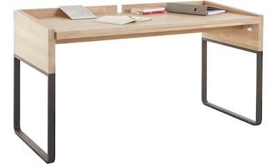 OTTO products Schreibtisch »Hellen«, aus Eiche massiv, klappbar, vegan, Breite 146 cm,... kaufen