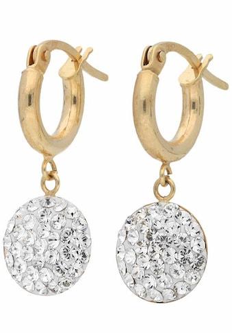 Firetti Paar Creolen, mit Kristallen kaufen