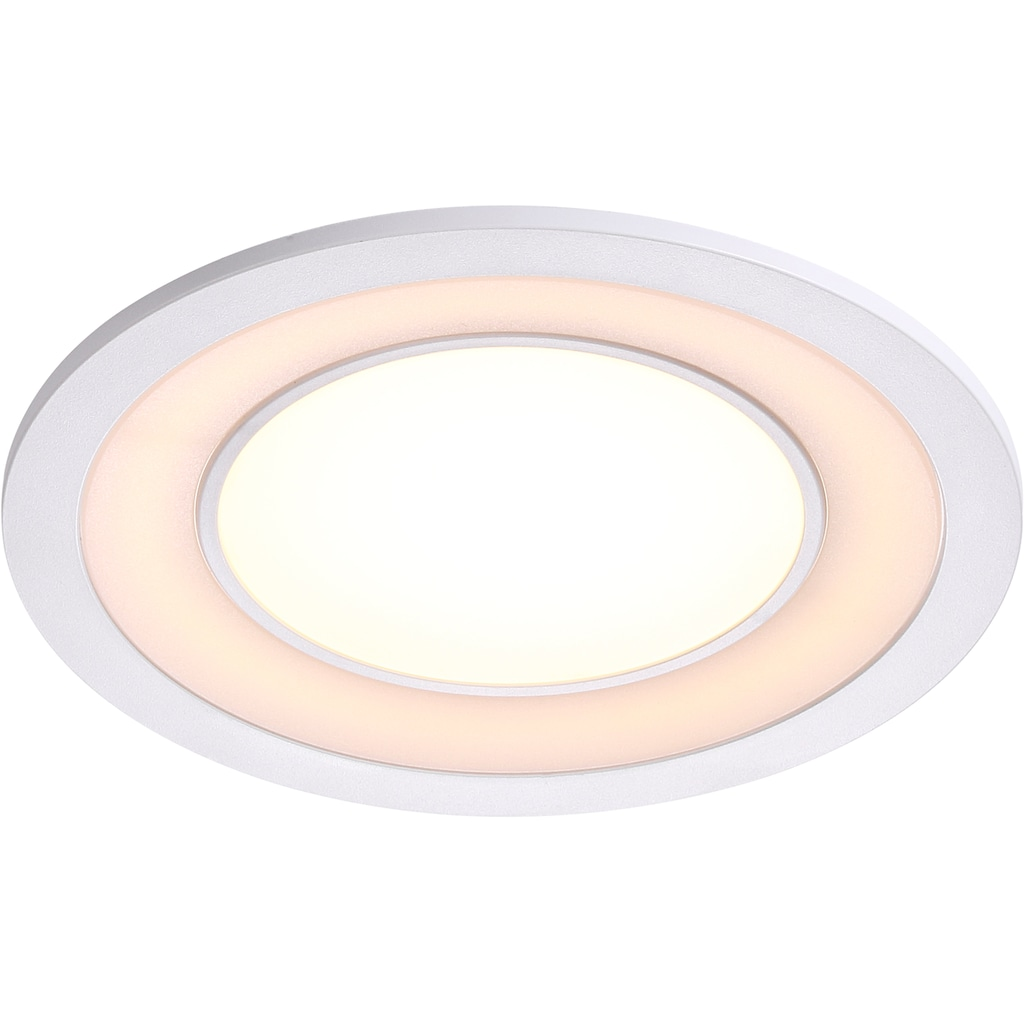 Nordlux LED Einbaustrahler »2er Set Clyde 15«, LED-Board, Warmweiß, Einbauleuchte mit integriertem Dimmer