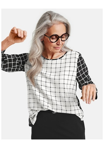 GERRY WEBER Bluse 1/1 Arm »Langarmbluse mit Kontrastoptik« kaufen