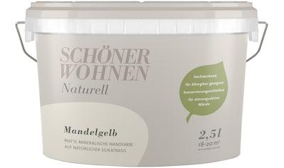 SCHÖNER WOHNEN-Kollektion Wandfarbe »SW Naturell Mandelgelb«, hochdeckend kaufen