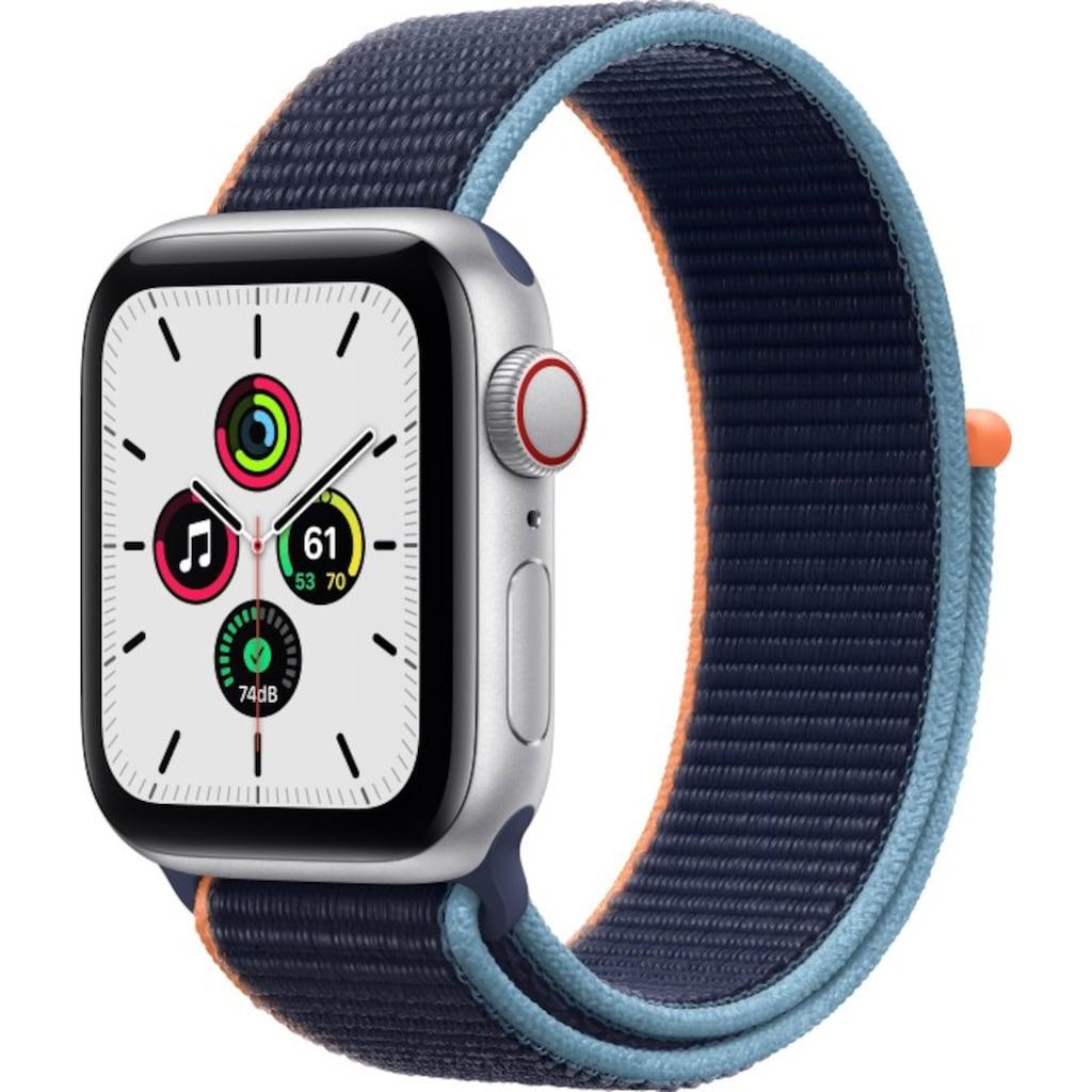 Apple Smartwatch »Series SE (2021), GPS + Cellular, Aluminium-Gehäuse, 40 mm mit Sportarmband«
