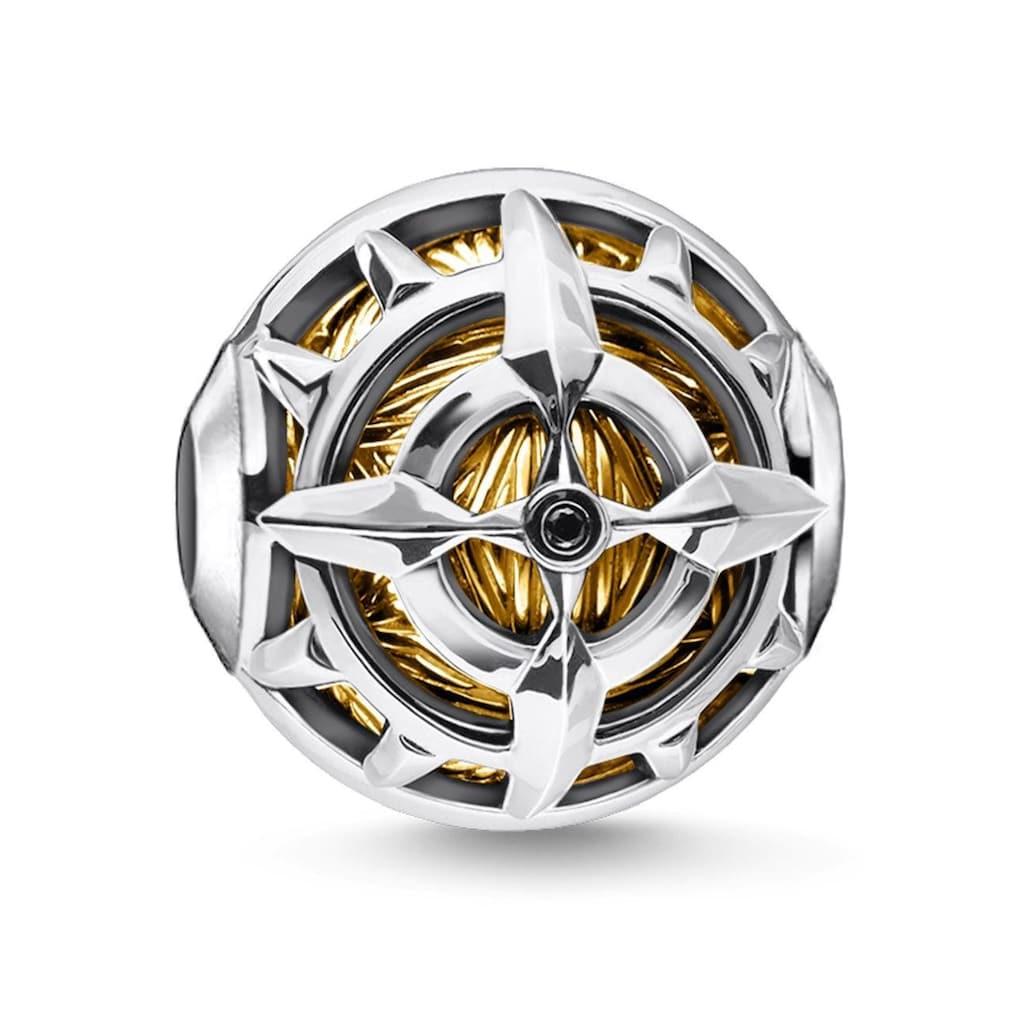 THOMAS SABO Bead »Kompass gold, K0334-414-7«, mit Zirkonia