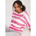 SOCCX Fledermauspullover, im trendy Streifen-Look mit tollem Frontmotiv