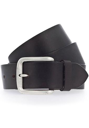 MUSTANG Ledergürtel, Mustang Schriftzug auf der Gürtelschlaufe kaufen