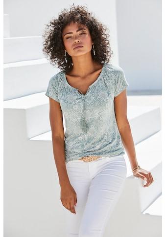LASCANA T-Shirt, mit leicht gerafftem Ausschnitt kaufen