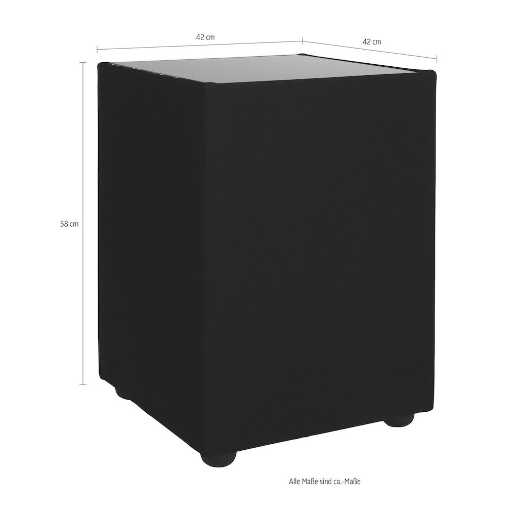 TOM TAILOR Nachttisch »KUBUS«, Struktur, mit Glasablage
