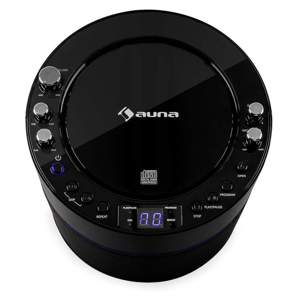 Auna Karaokeanlage CD CD+G Player TV-Anschluss Mikrofon »Screen Star«