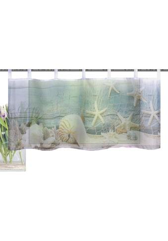 Vision S Scheibengardine »MUSALIA«, HxB: 45x120, Cafehaus Voile Digitaldruck kaufen