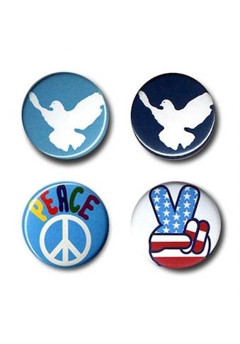 LOGOSHIRT Button 4er Set mit Friedens-Motiven kaufen