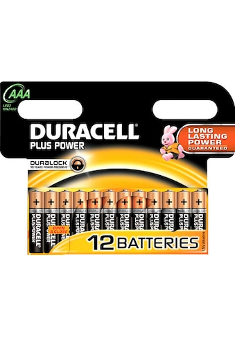 Duracell Batterie »Plus Power Micro AAA LR03«, 1,5 V, (Packung, 12 St.) kaufen