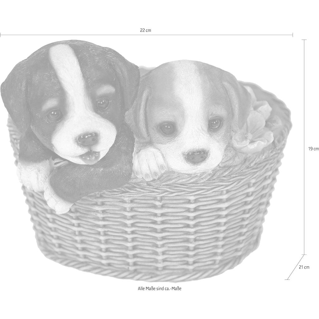 Casa Collection by Jänig Tierfigur, Hunde im Korb, L 22 cm
