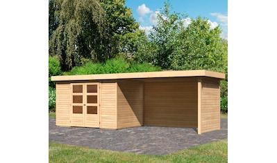 KARIBU Set: Gartenhaus »Arnis 4«, BxT: 592x238 cm, mit Anbau kaufen