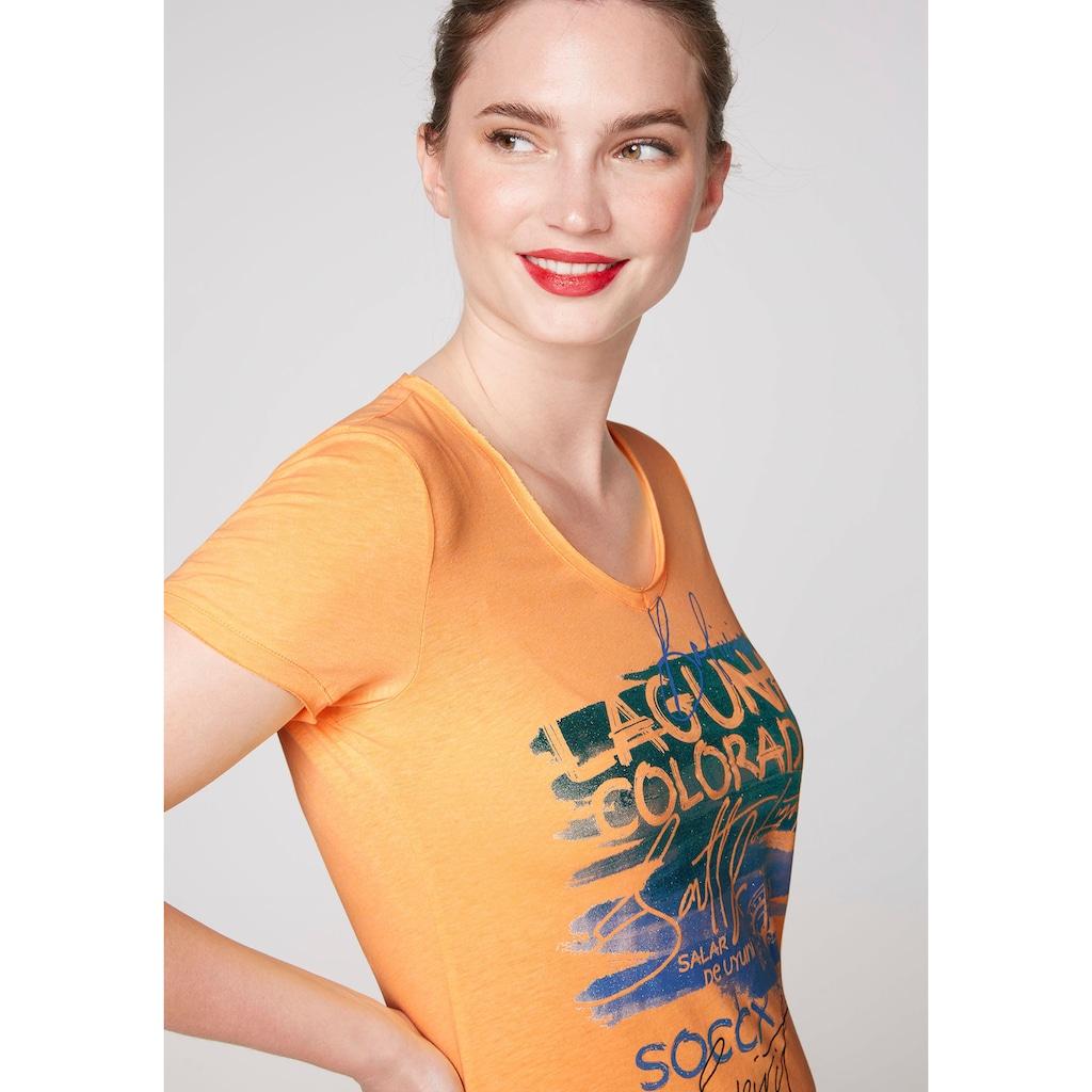 SOCCX V-Shirt, mit Glitzer-Print