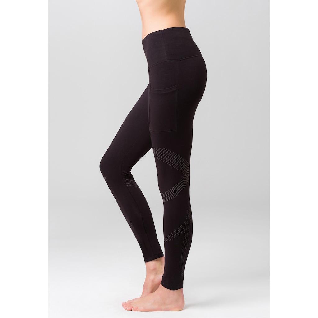 LASCANA ACTIVE Leggings, mit reflektierende Details und Handytasche