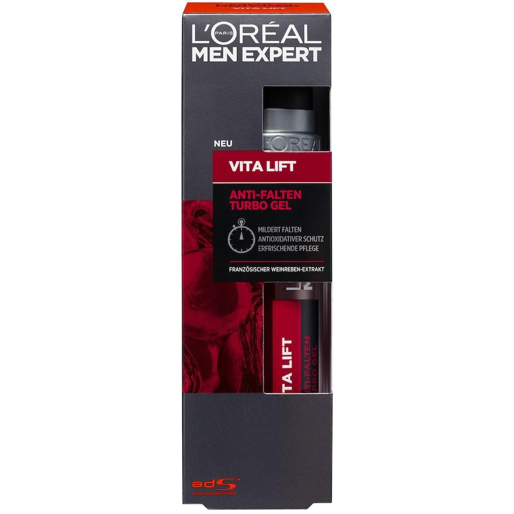 L'ORÉAL PARIS MEN EXPERT Anti-Aging-Creme »Vita Lift Turbo Gel«, hochdosierte Anti-Aging Wirkung gegen Falten & Augenringe