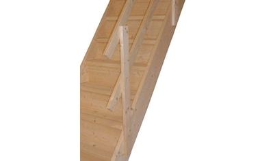 STARWOOD Raumspartreppe »Rhodos«, offene Stufen, gerade, Holzgeländer rechts kaufen