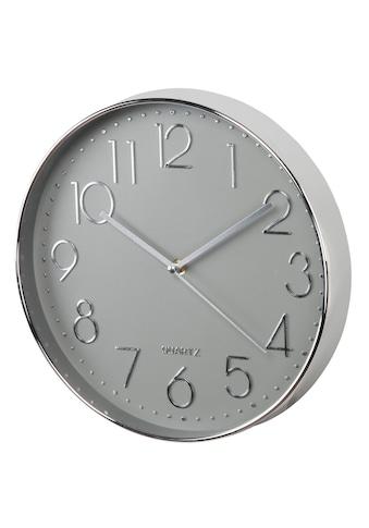 """Hama Wanduhr """"Elegance"""", Ø 30 cm, geräuscharm, Silber/Grau »Uhr« kaufen"""