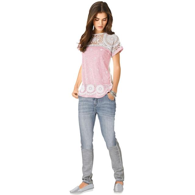 création L Longshirt mit ornamentalem Ausbrenner-Muster