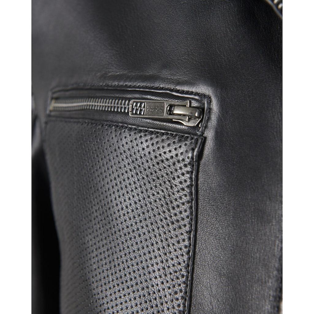 JCC Lederjacke »402293«, mit vielen Taschen