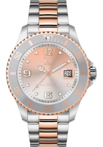 ice-watch Quarzuhr »ICE steel - Silver Sunset Rosegold - Medium - 3H, 16769« kaufen