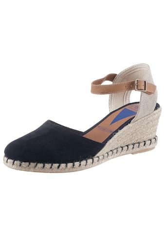 VERBENAS Sandalette, mit Bast bezogenem Keilabsatz kaufen