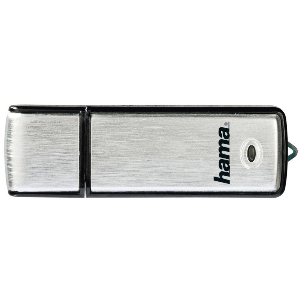 "Hama USB-Stick »Schwarz/Silber«, (USB 2.0 Lesegeschwindigkeit 10 MB/s), ""Fancy"" 64GB, USB 2.0, 10MB/s"